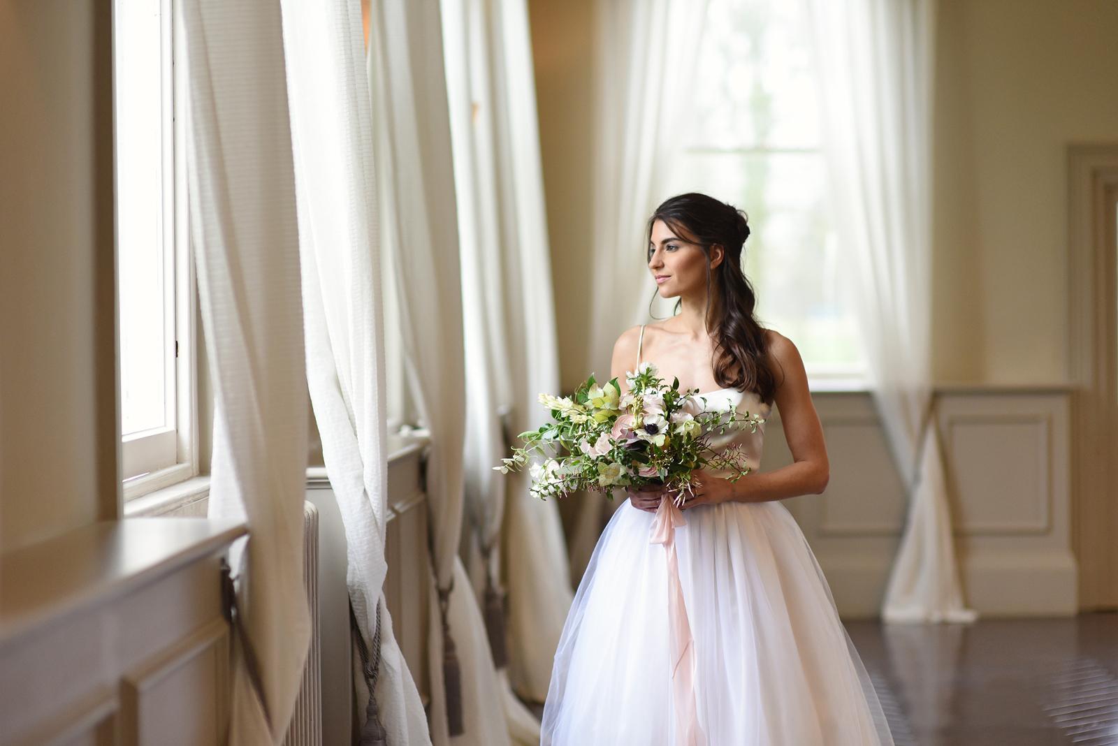 bridal portrait in Morden Hall London