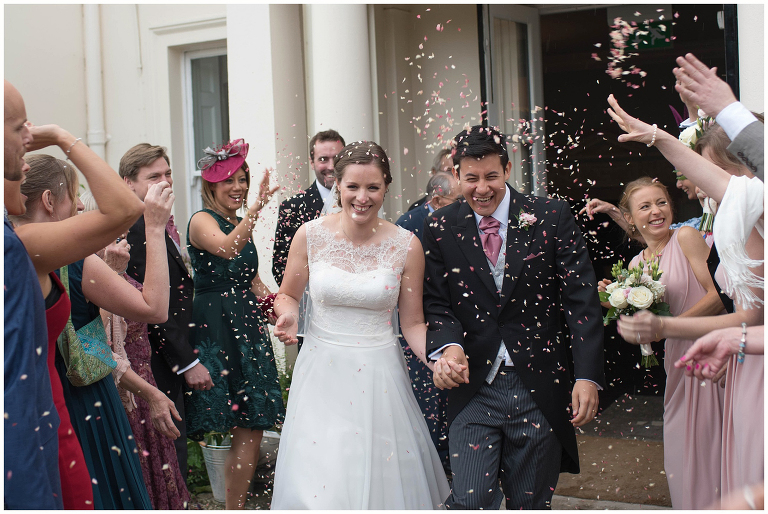 confetti Morden Hall wedding