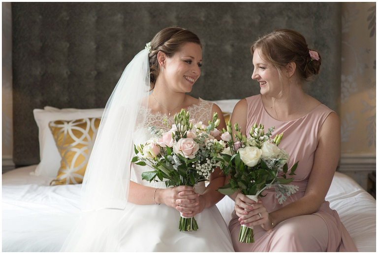 bride and bridesmaid Morden Hall