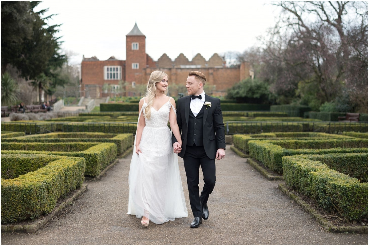 elegant wedding photography London Holland park