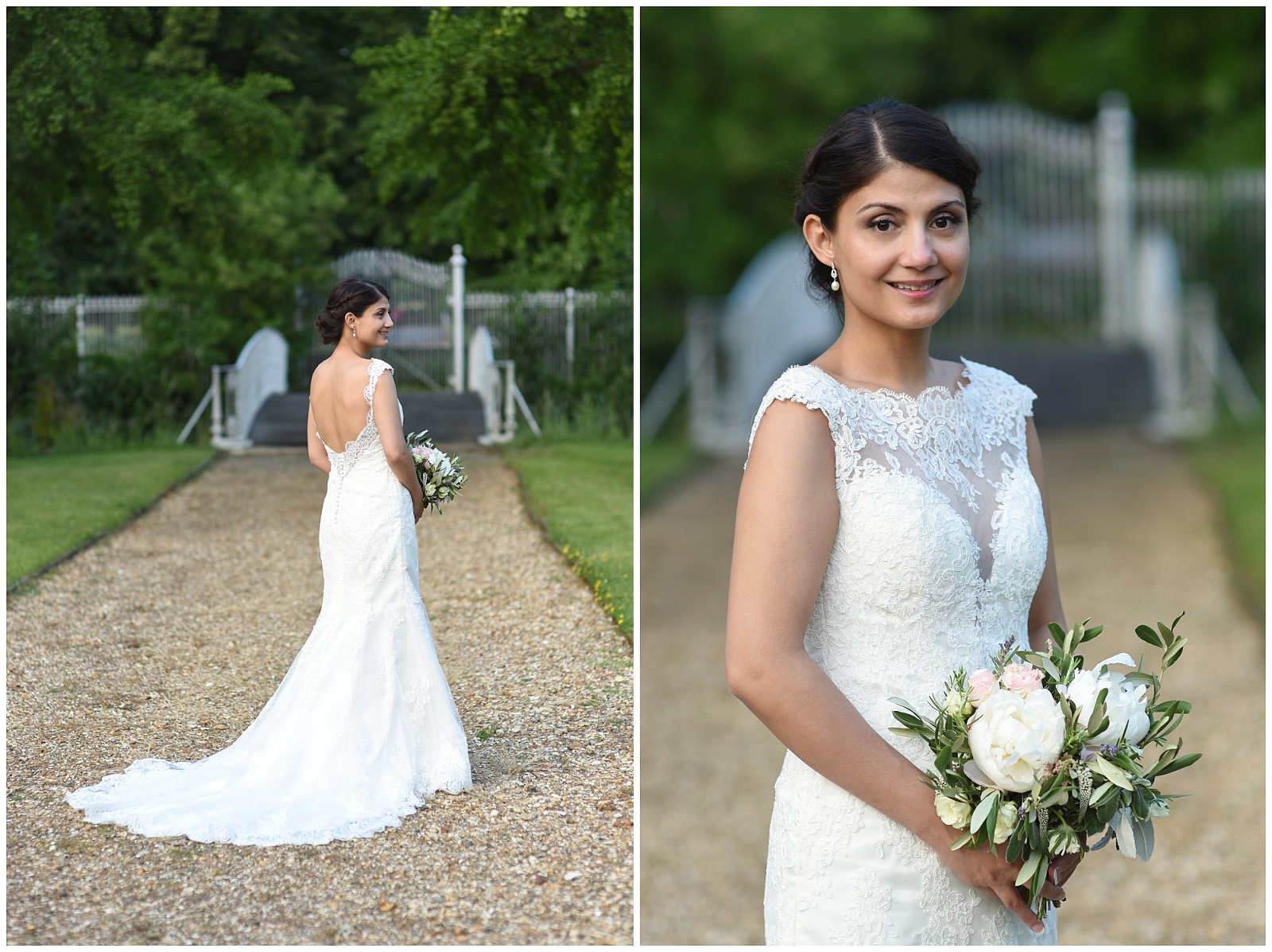 bridal portrait in Morden Hall