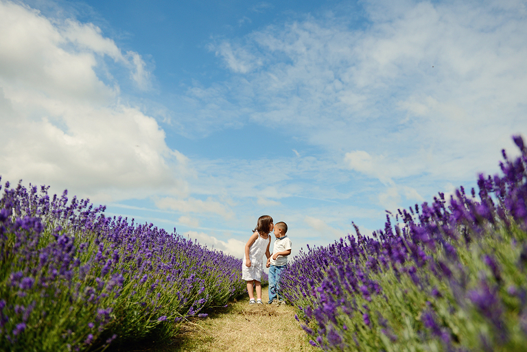 children Mayfield Lavender farm Surrey