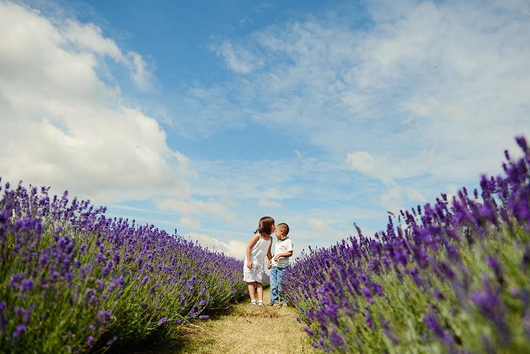 children Mayfield Lavender farm Surrey