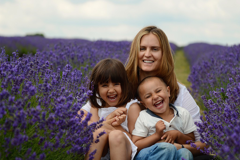 family photography in Mayfield Lavender farm Surrey