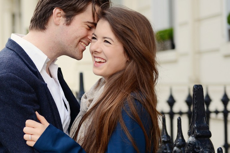 couple engagement photography in Central London