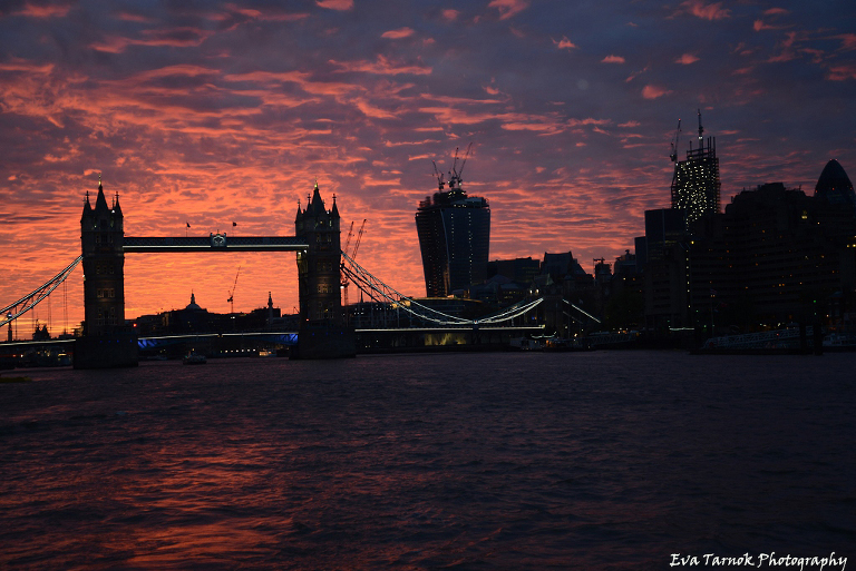 Tower of London in a sunset