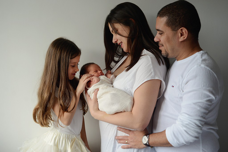 newborn baby with family, family photography in Wimbledon
