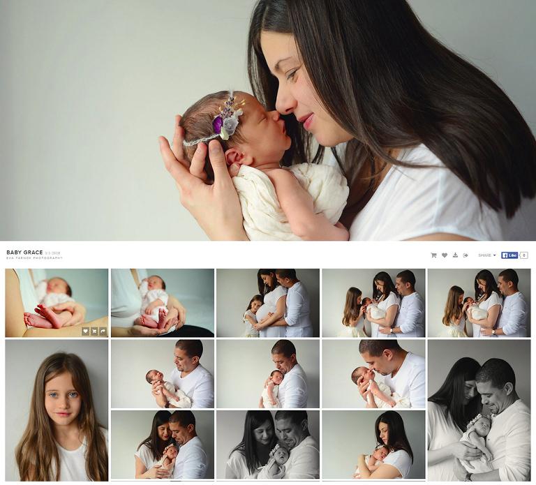 pixieset client gallery of Eva Tarnok Photography