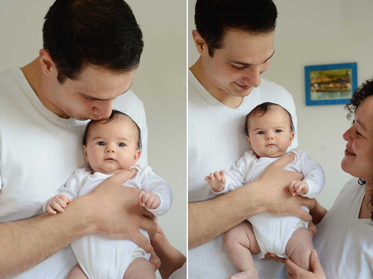 father with young baby, family photography in Battersea London