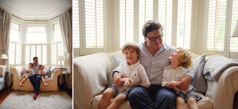 father and son, family photography in Putney South London