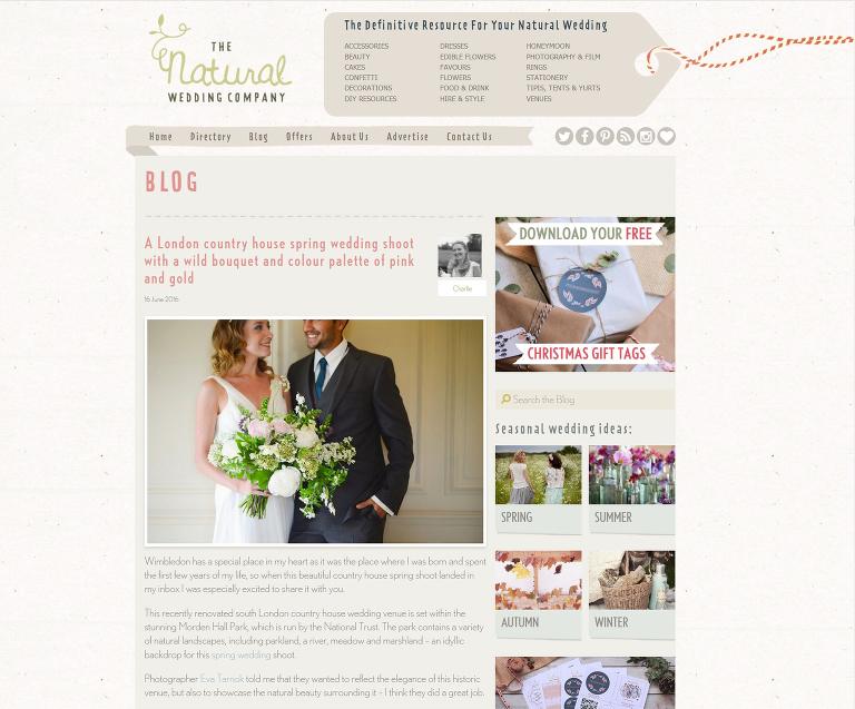 Natural wedding company