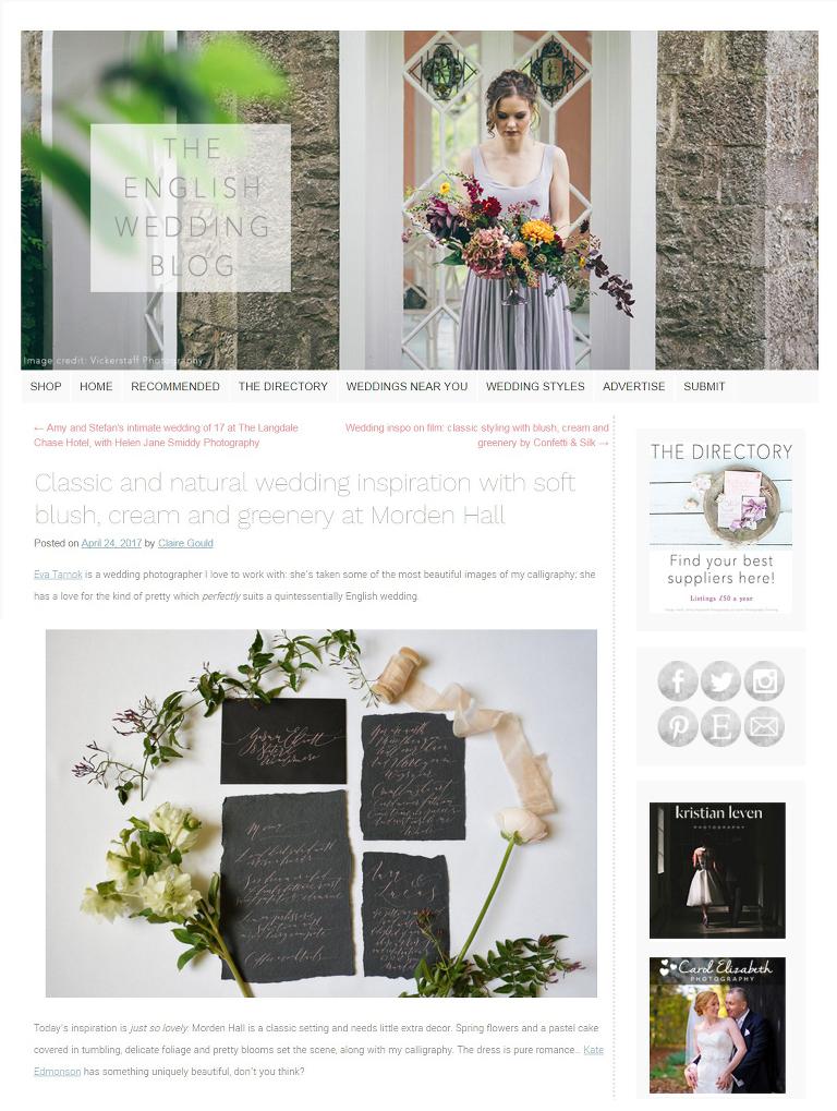 The English Wedding Blog publication