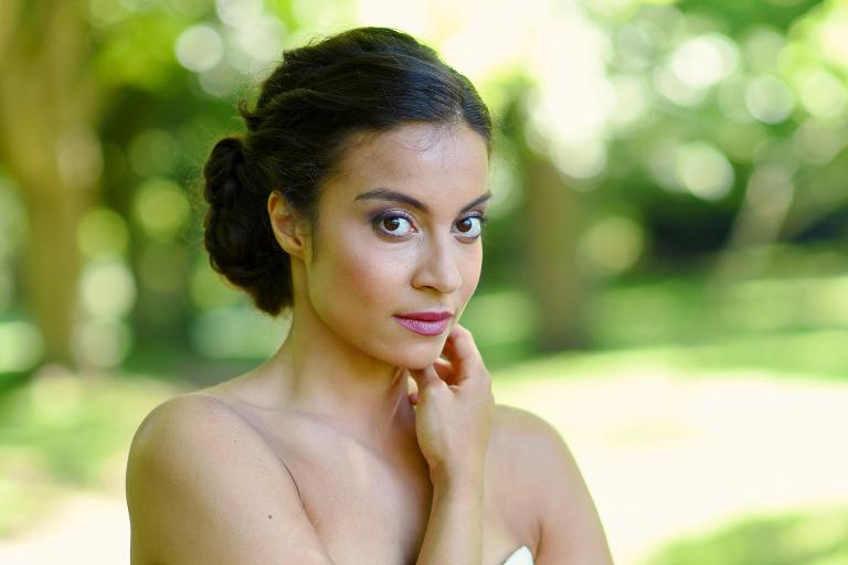 Wimbledon park bridal portrait