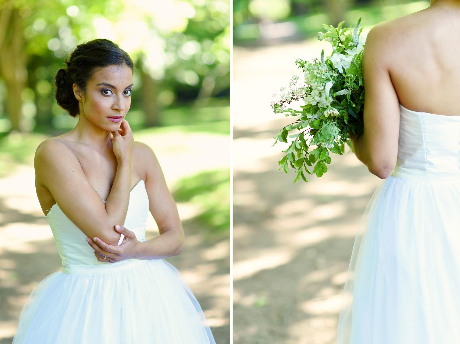beautiful natural bridal portrait Wimbledon park
