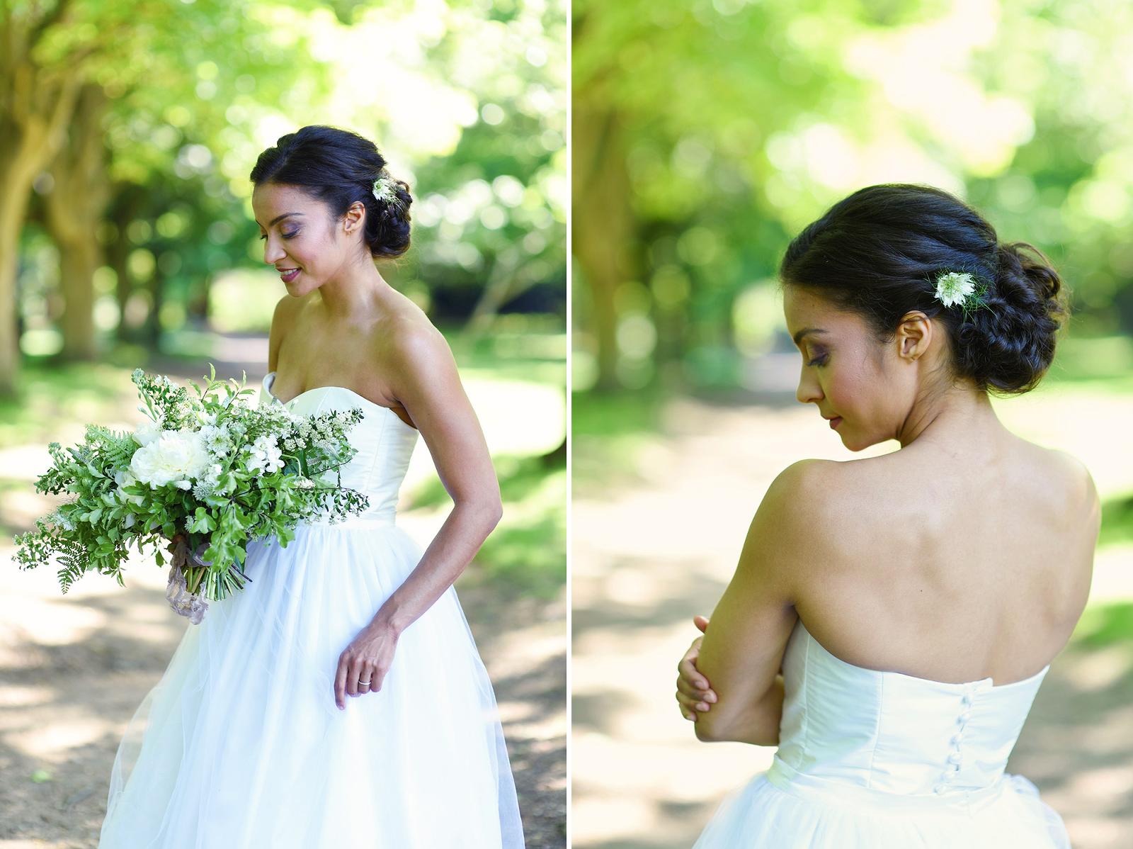 bridal editorial portrait Wimbledon