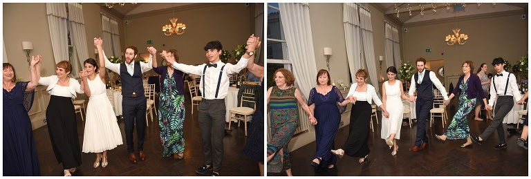 wedding guests dancing to Ceilidh Tree music