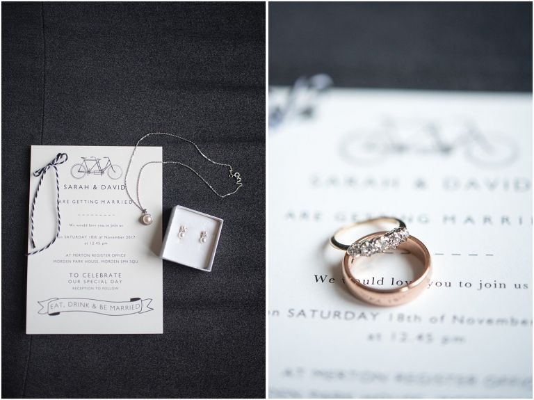 wedding invitation and ring London