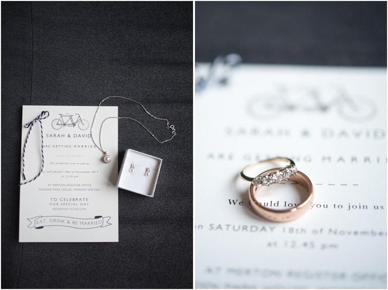 wedding invitation and ring London