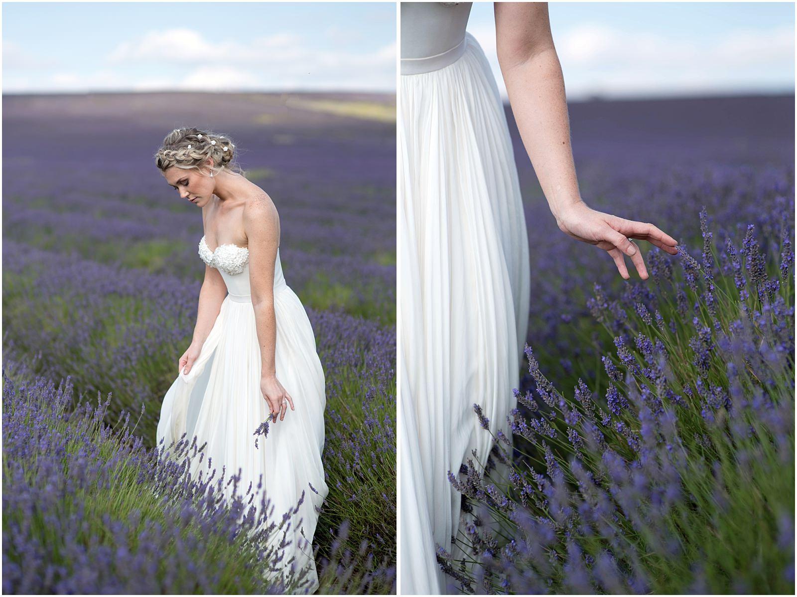 lavender bridal portrait