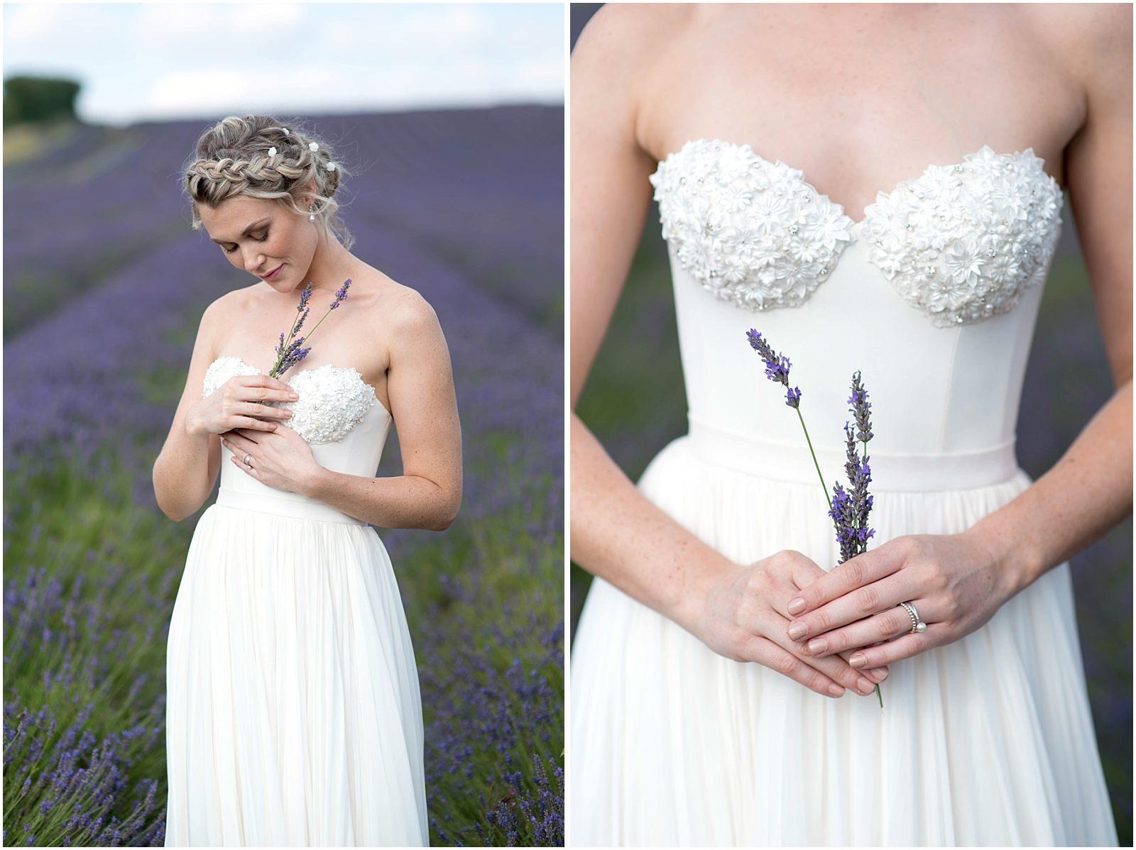 bridal portrait Hitchin lavender