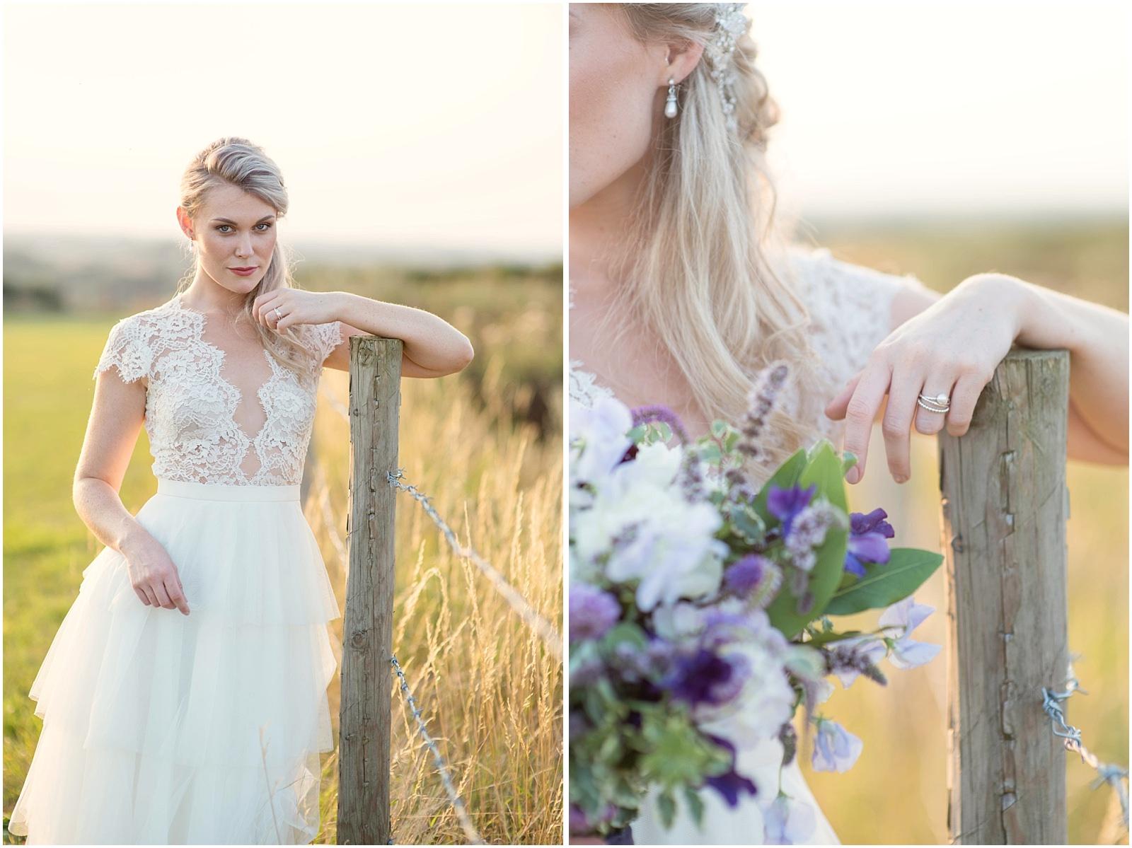 sunset bridal inspiration