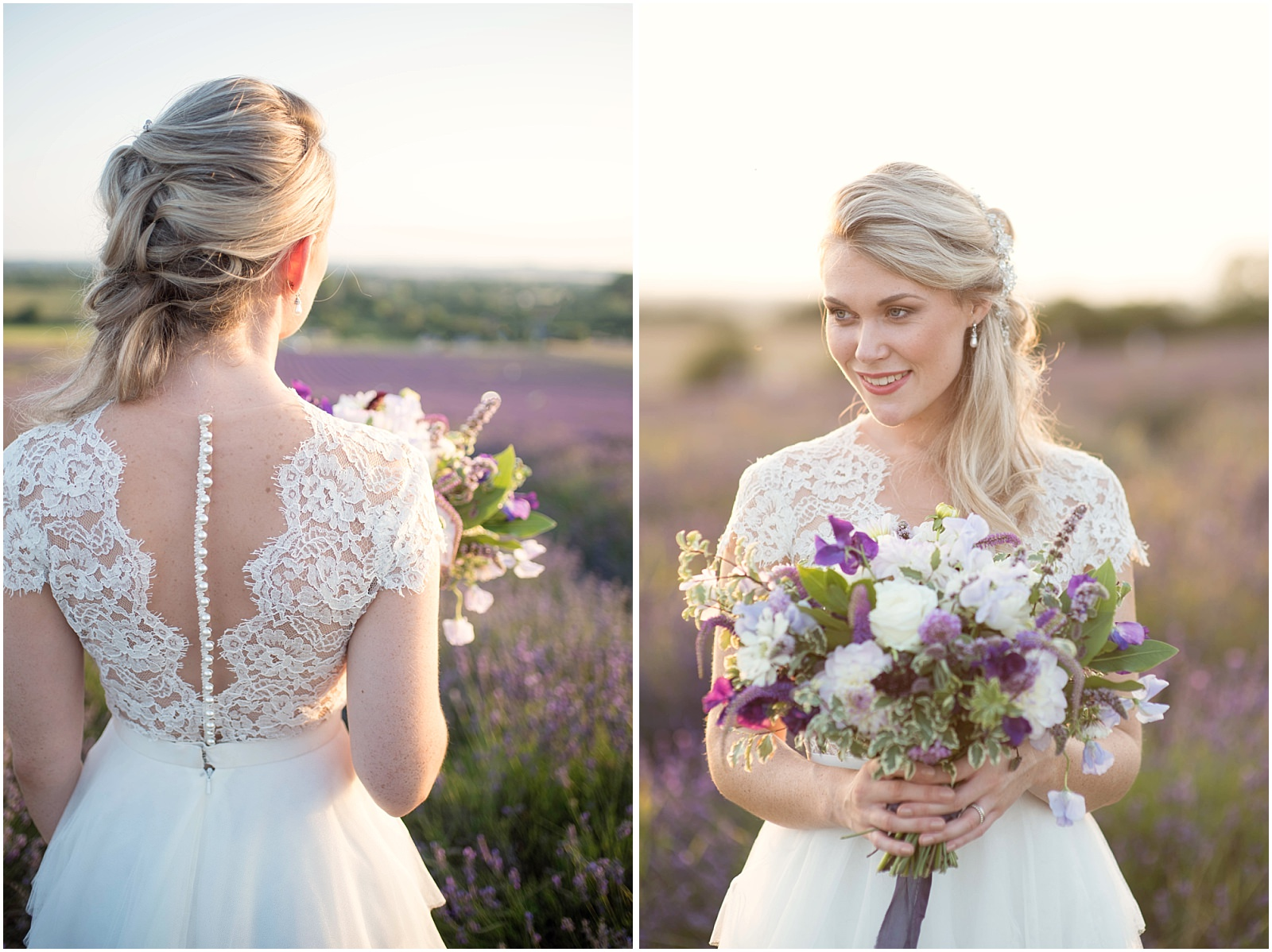 bridal portrait with Flowers by Eve