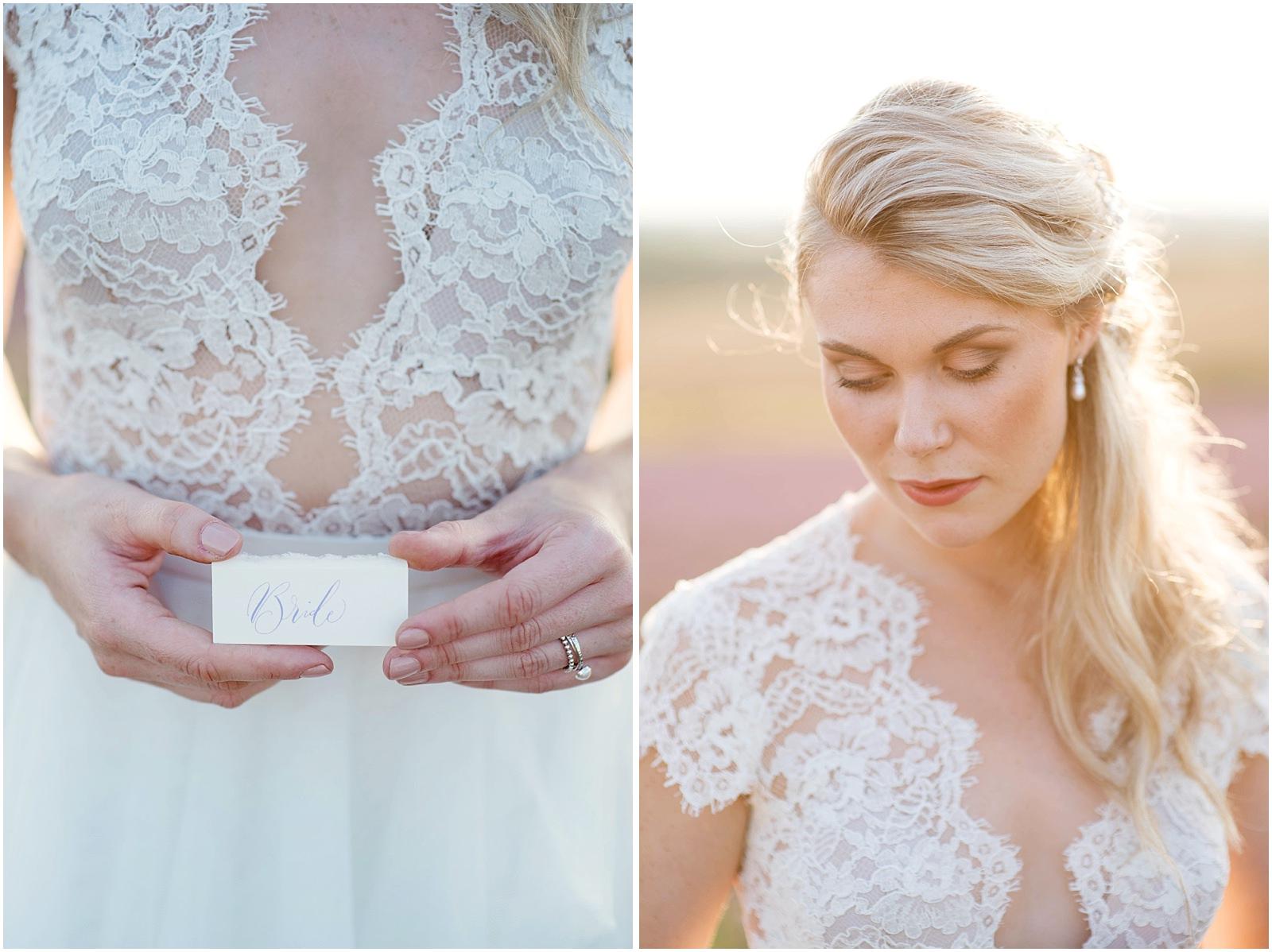 bridal portrait lavender field