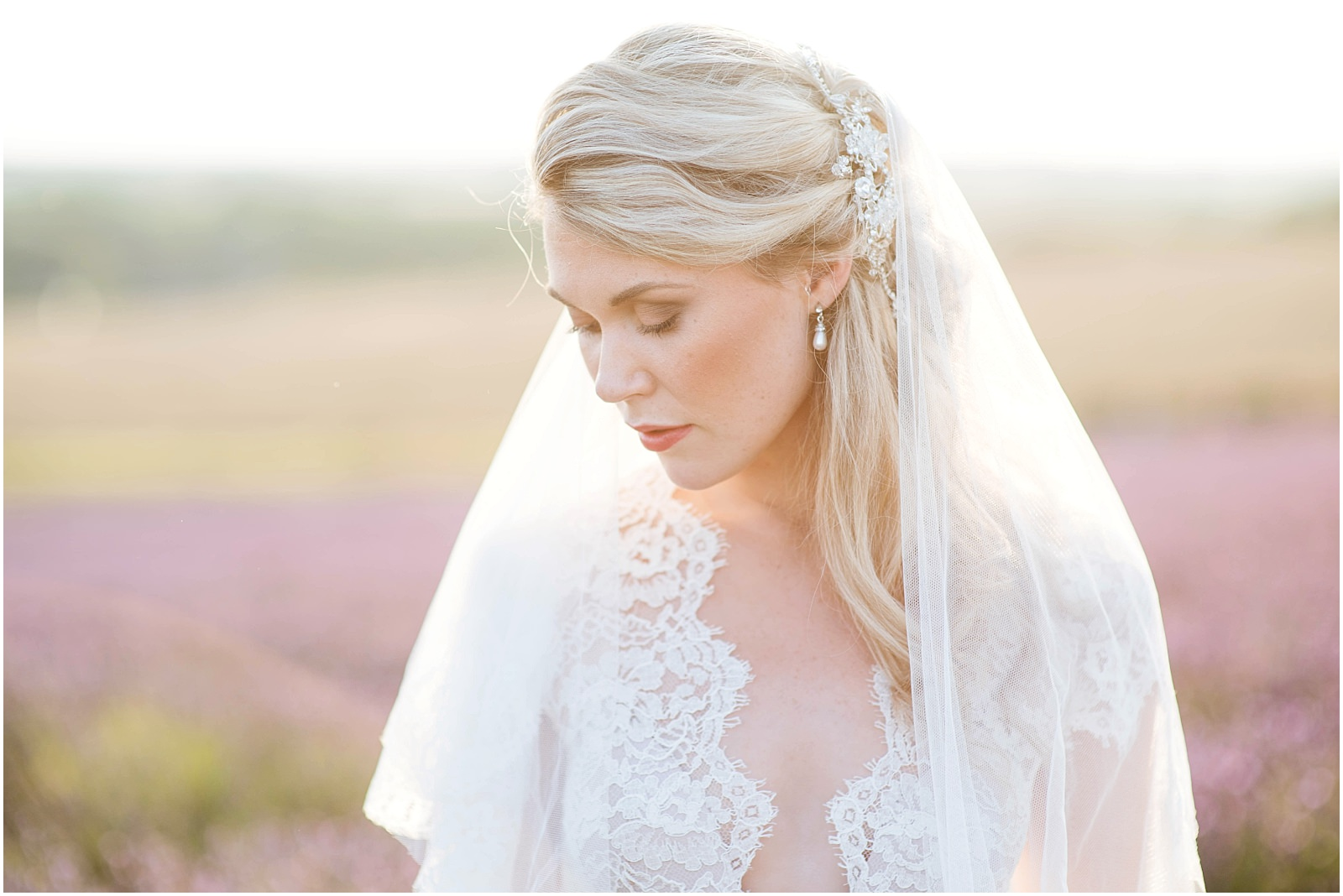 bridal inspiration lavender field