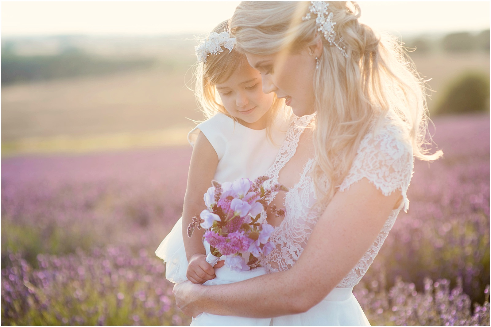 sunset bridal portrait Hitchin