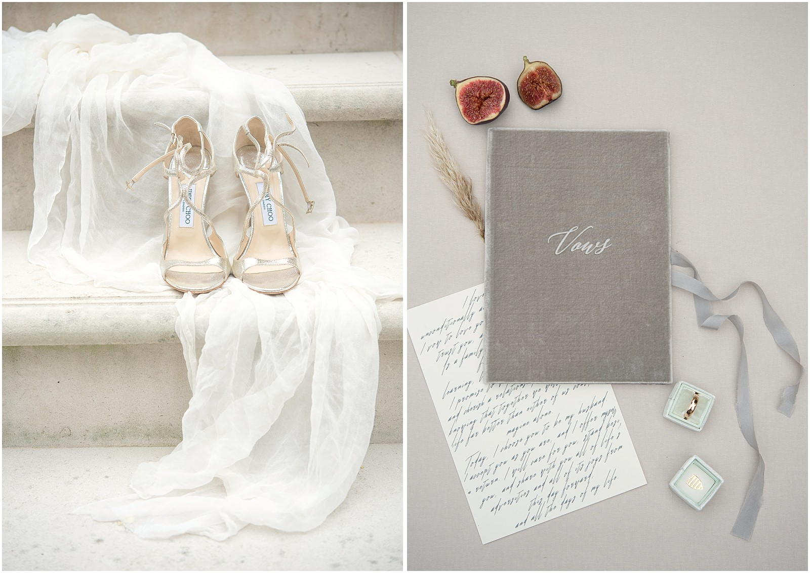 wedding details shoes vow book