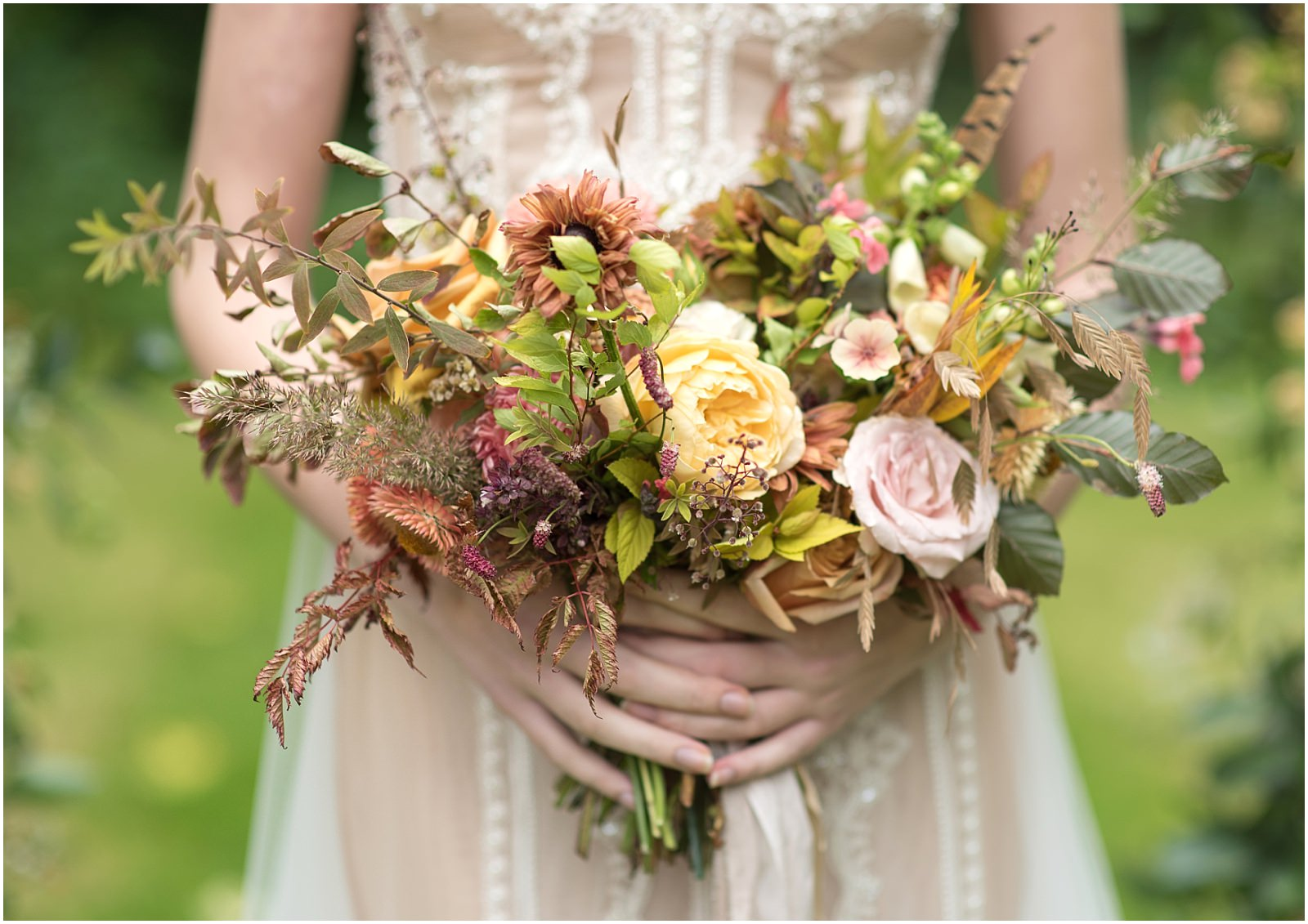 Jennifer Pinder wedding bouquet