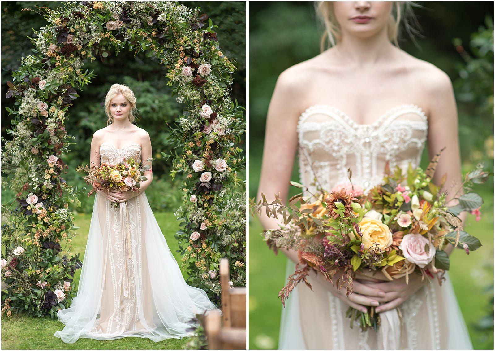 bride flower arch