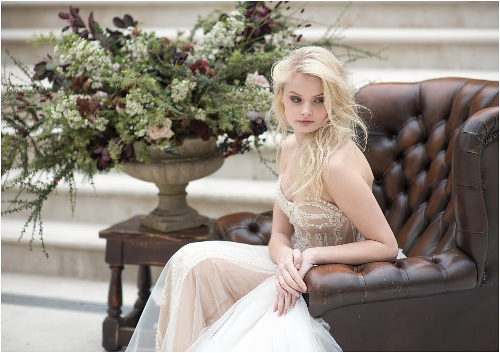 bride leather armchair