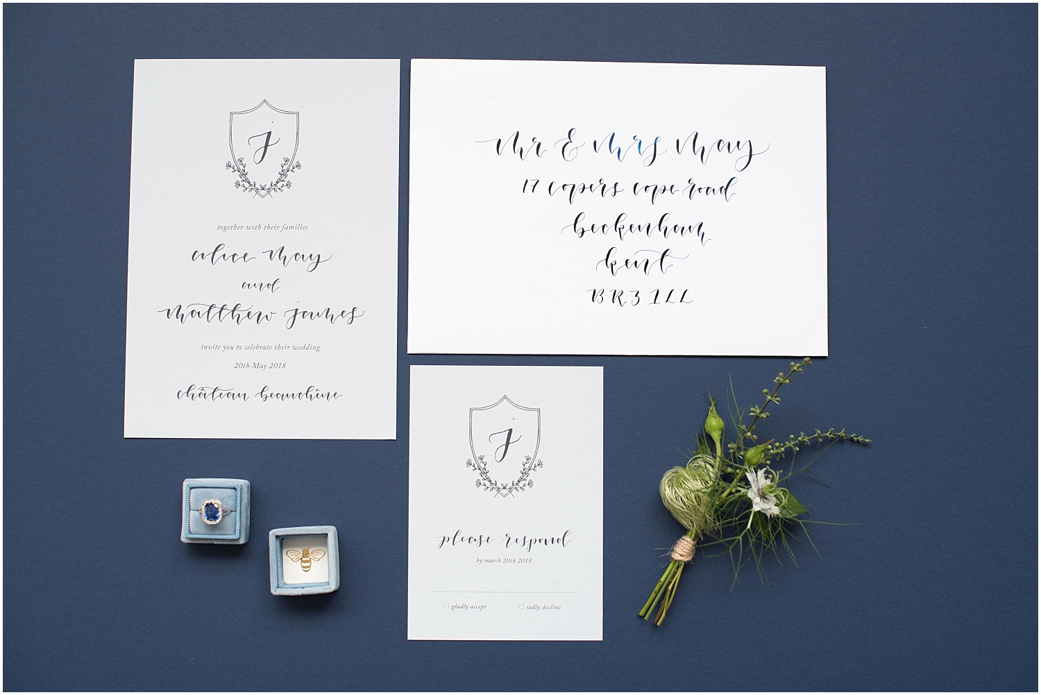 wedding ring stationary