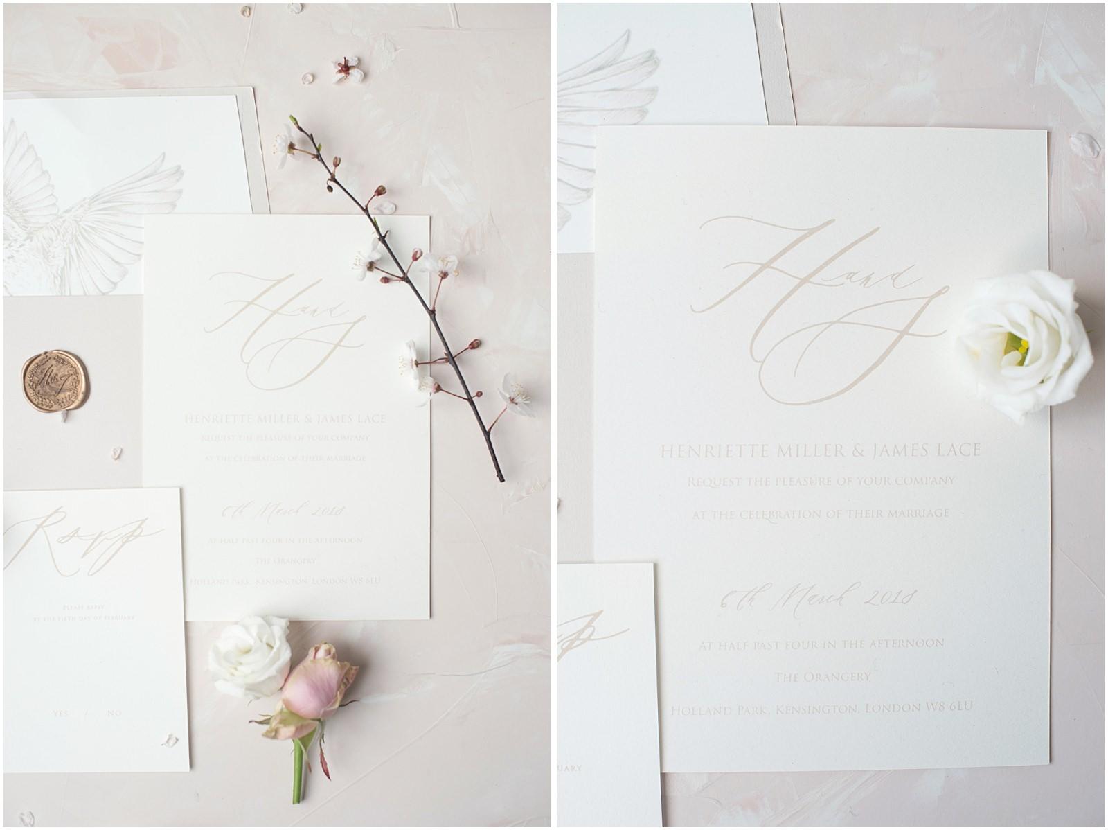 fine art wedding stationary Elmo Paper Stories