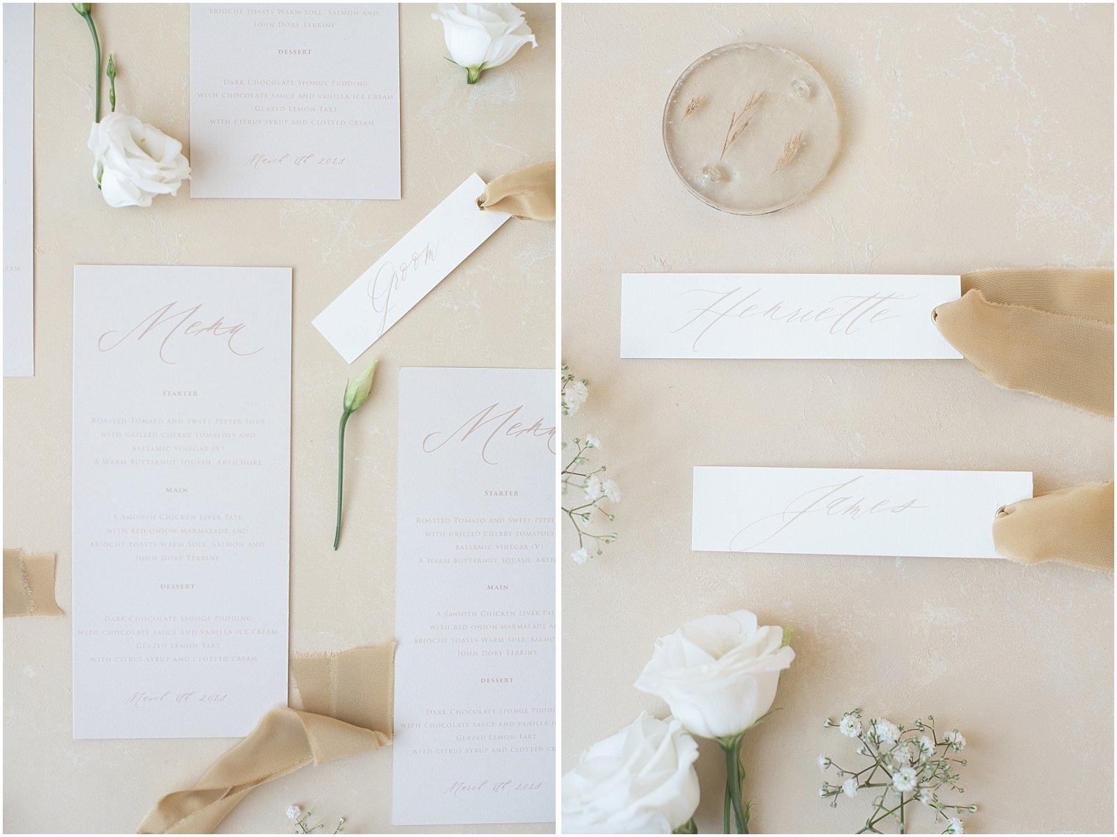fine art cream wedding stationary Elmo Paper Stories