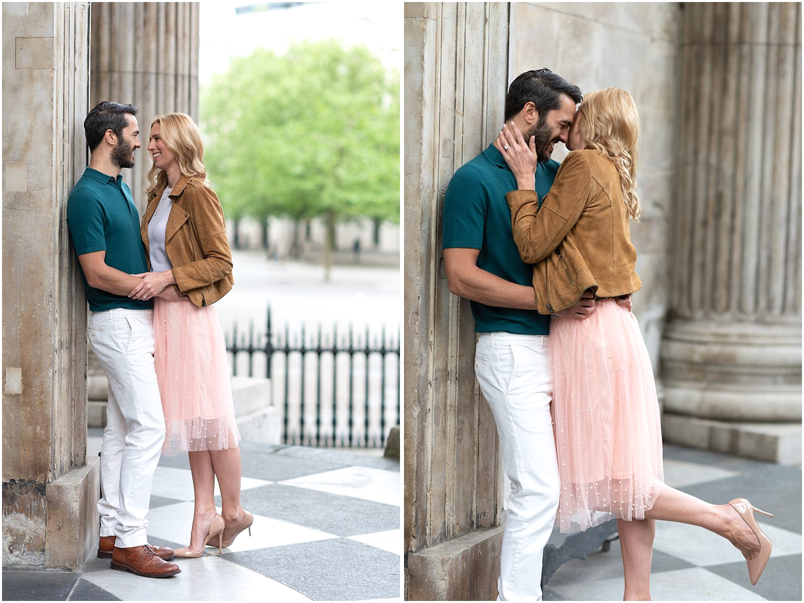 London couple engagement photography st pauls cathedral romantic intimate couple