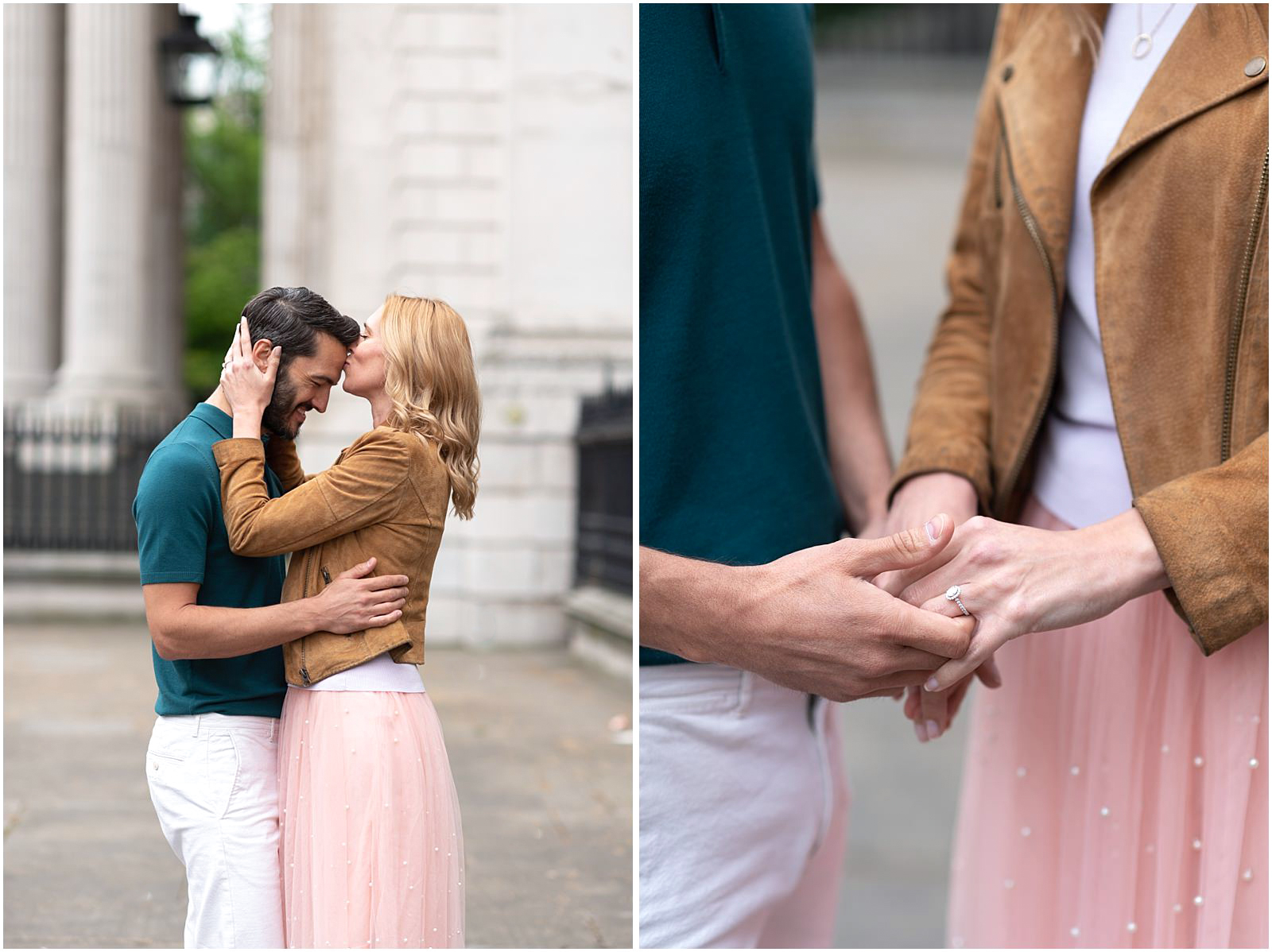 London couple engagement photography st pauls cathedral with engagement ring