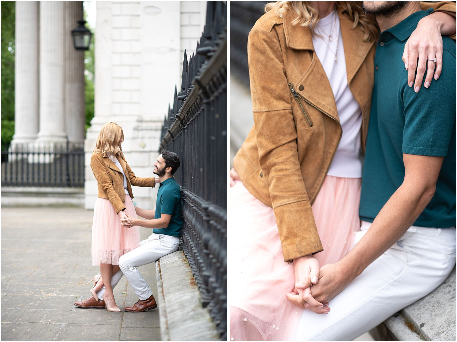 London couple engagement photography st pauls cathedral relaxed lifestyle couple portrait
