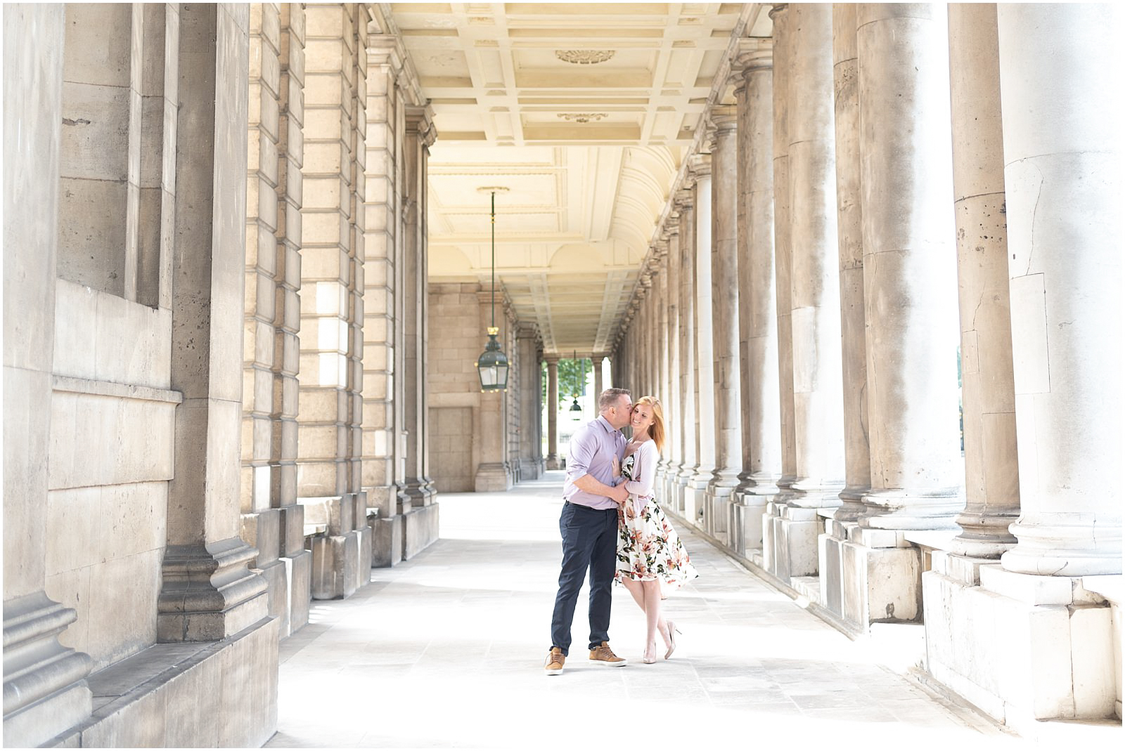 Greenwich couple engagement shoot London engagement photography