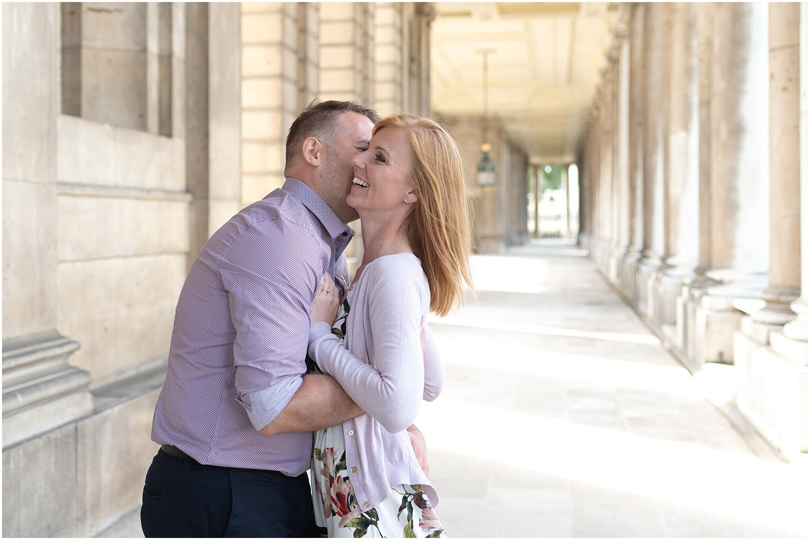 London Greenwich couple engagement shoot