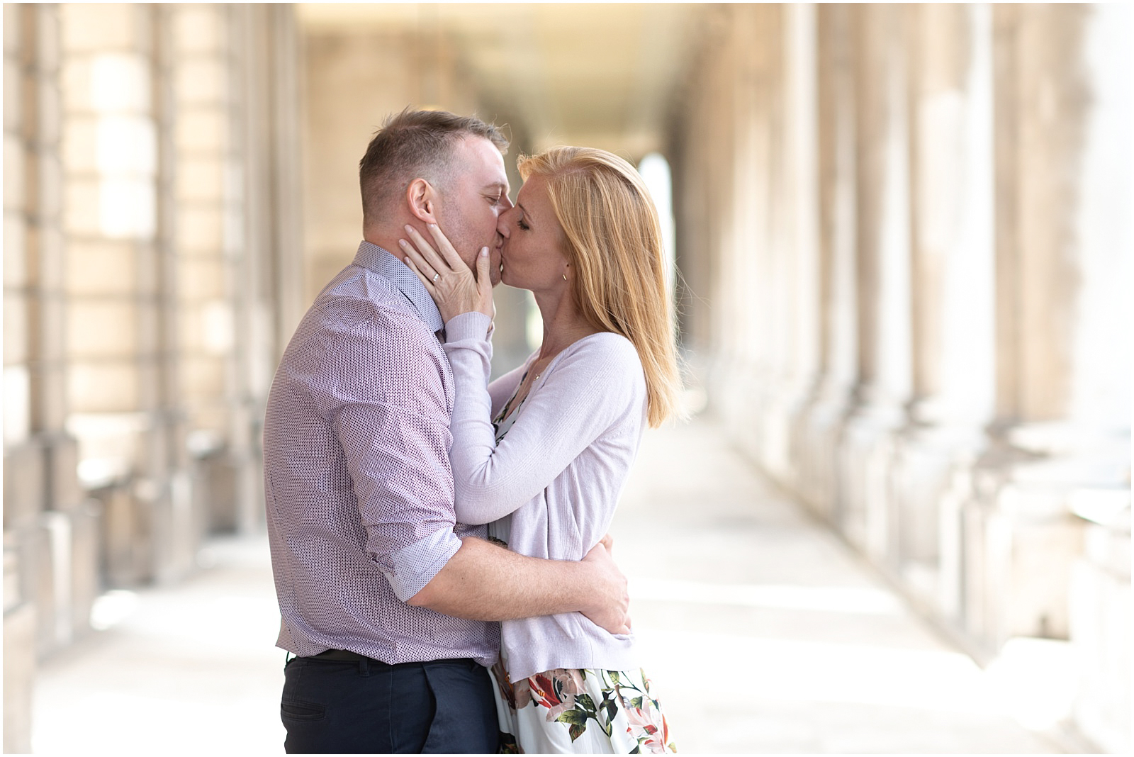 London Greenwich couple engagement shoot couple kissing