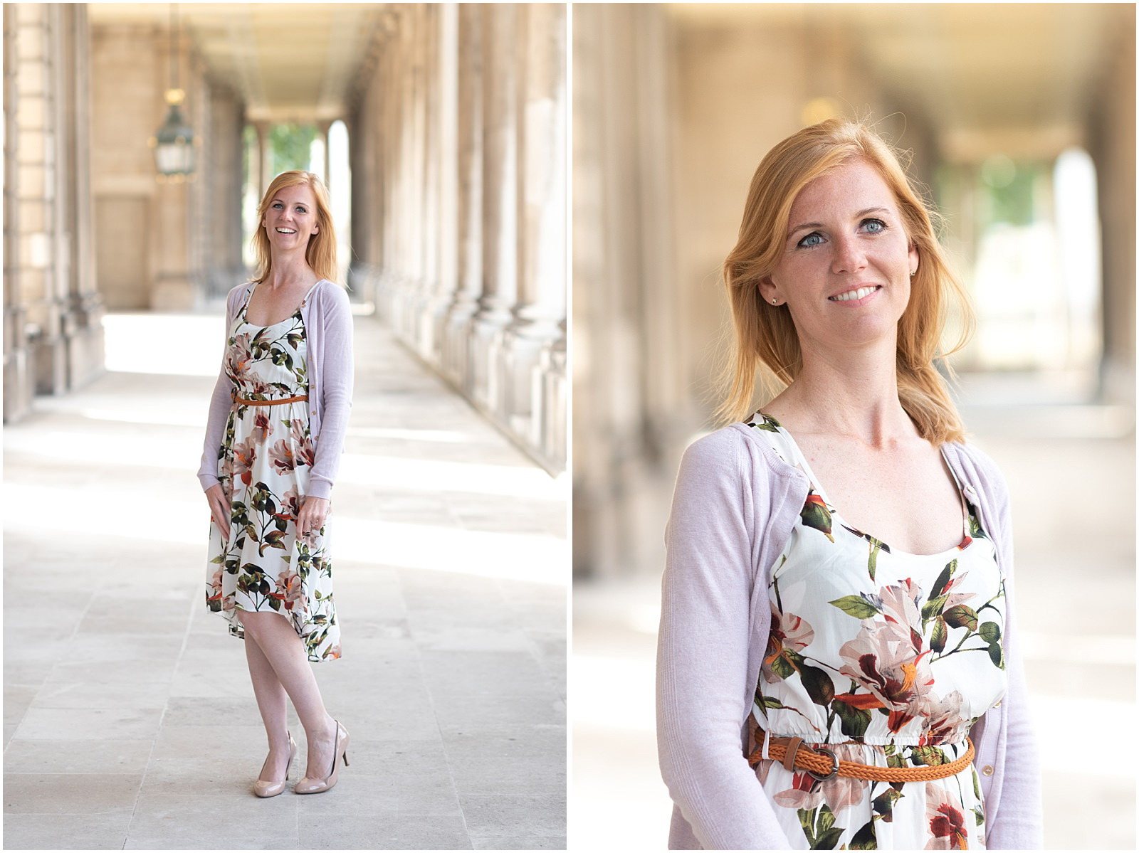 London portrait Greenwich engagement pastel colors
