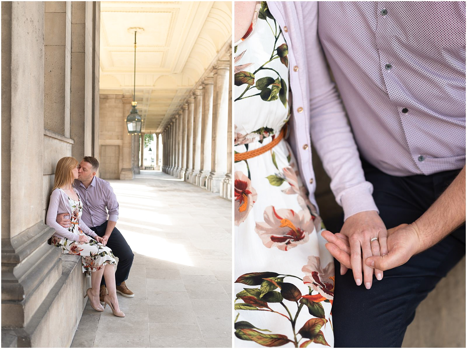 romantic London couple engagement Greenwich
