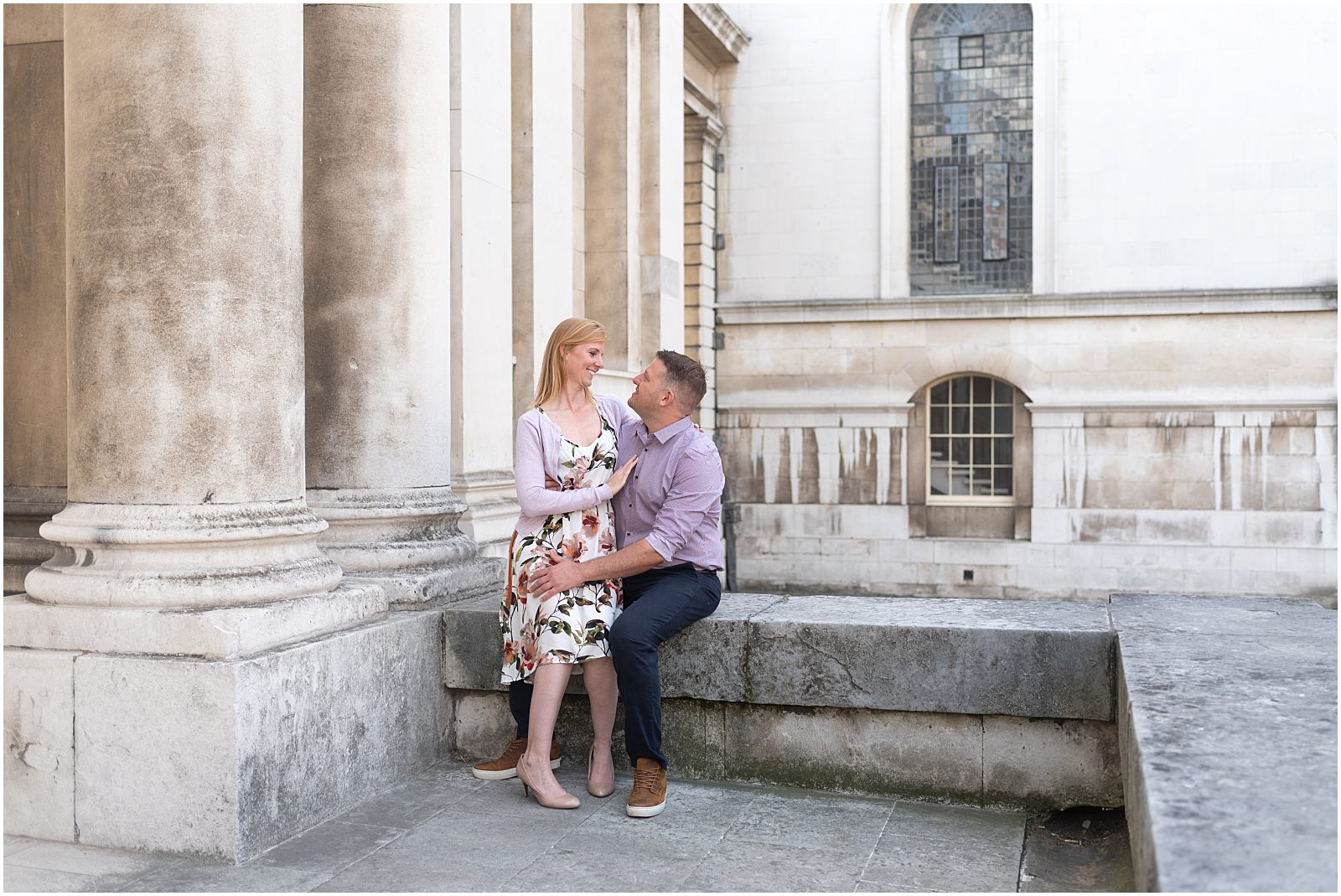 London couple engagement Greenwich romantic couple
