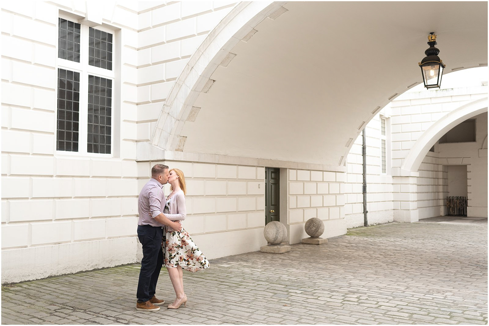 romantic London engagement