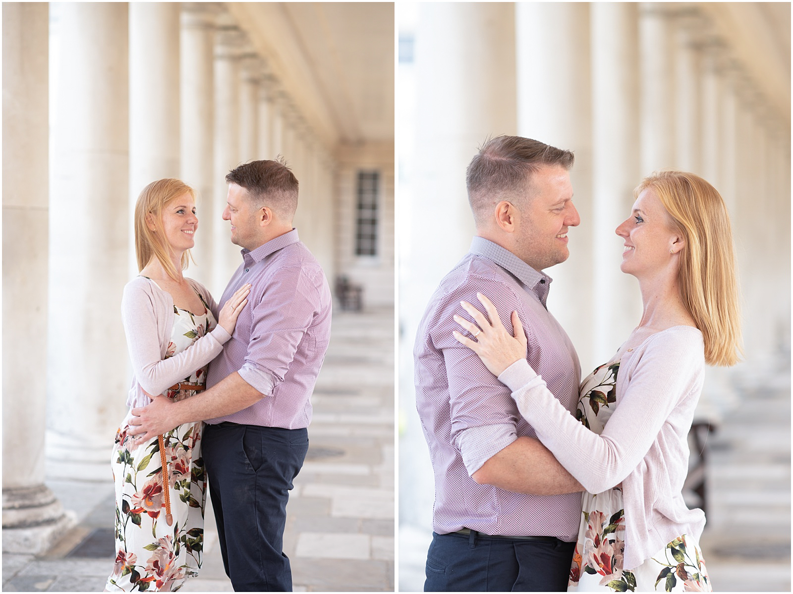 romantic London engagement photography