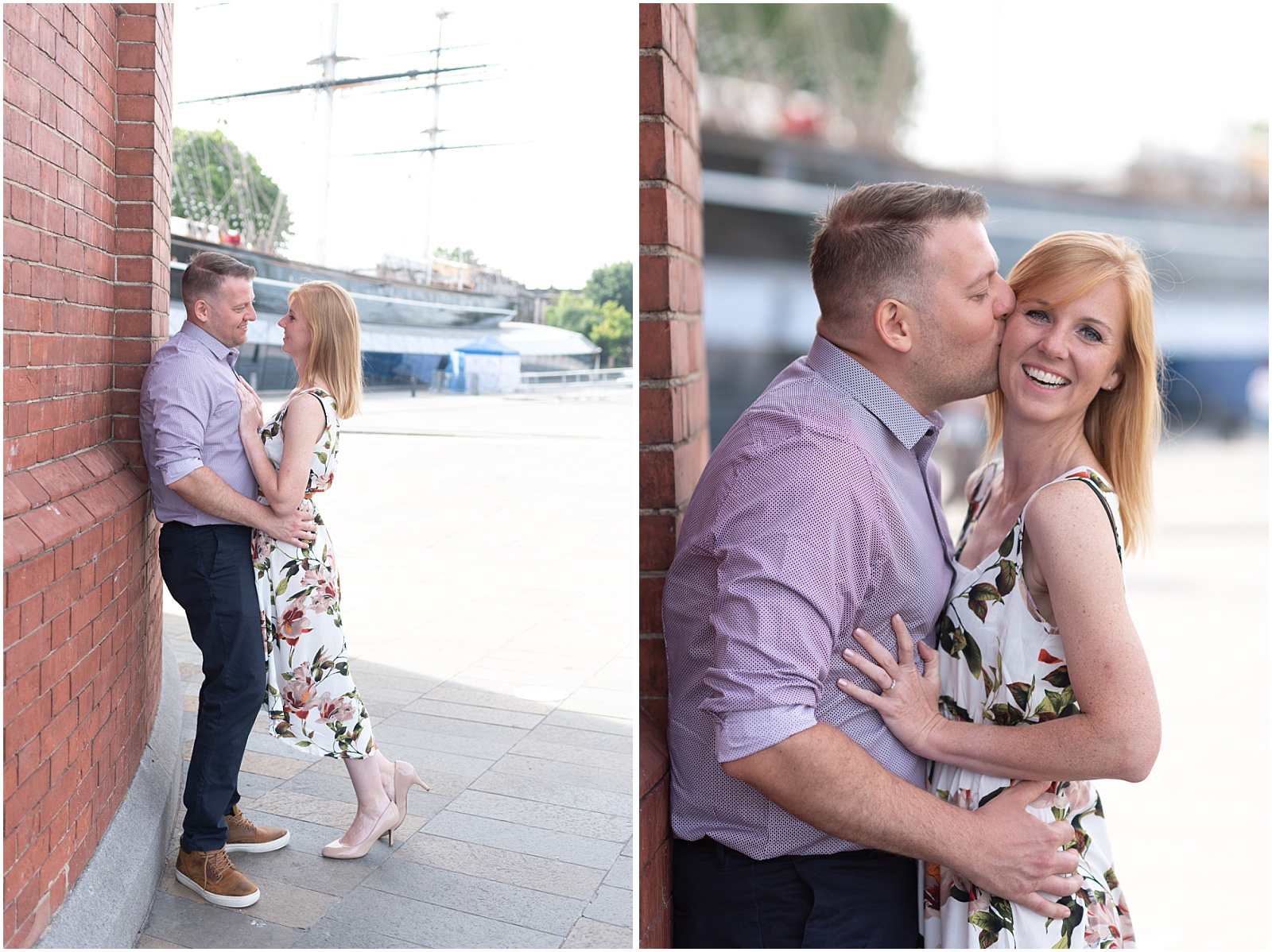 romantic London engagement photography Greenwich