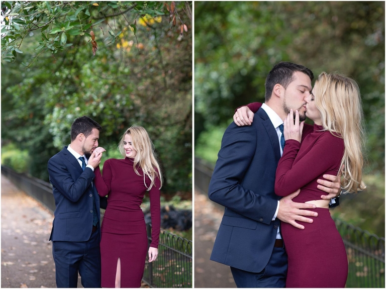 Hyde Park London pre wedding engagement