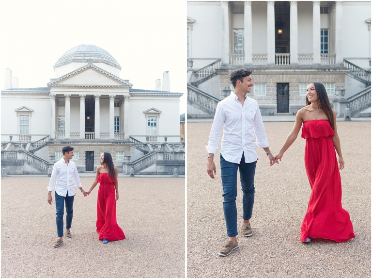 Fine art Chiswick House London pre wedding photography